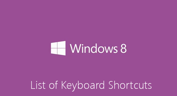 Tombol Perintah Pintas (Shortcut) Pada Keyboard Windows 8