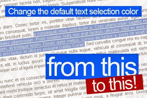 Cara Merubah Warna Background Pada Teks yang di Blok