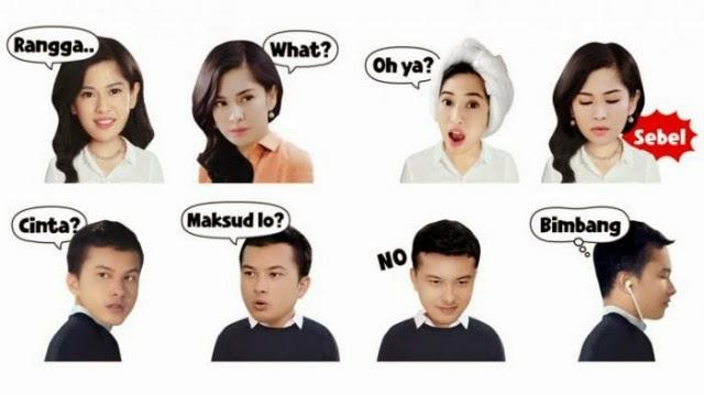 Stiker LINE AADC Mini Drama Kini Sudah Tersedia
