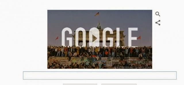 25 Tahun Runtuhnya Tembok Berlin di Peringati Google