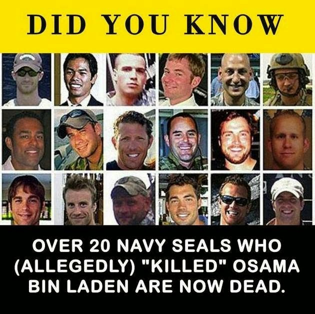 Over 20 Navy Seals Now Dead