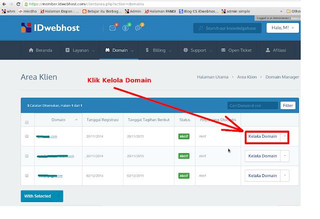 7. Pilih domain yang akan Anda jadikan domain blogspot Anda.