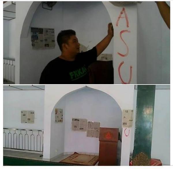 Astaghfirullah, Masjid di Jogja Dicoret-Coret