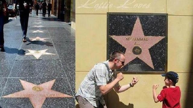Alasan Nama Muhammad Ali Dipasang di Dinding Walk Of Fame