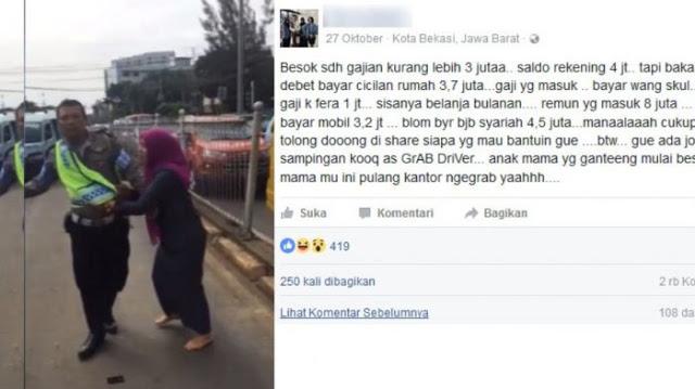 Curhat Soal Gaji di Media Sosial, Status Ibu Pencakar Polisi Ini Jadi Viral