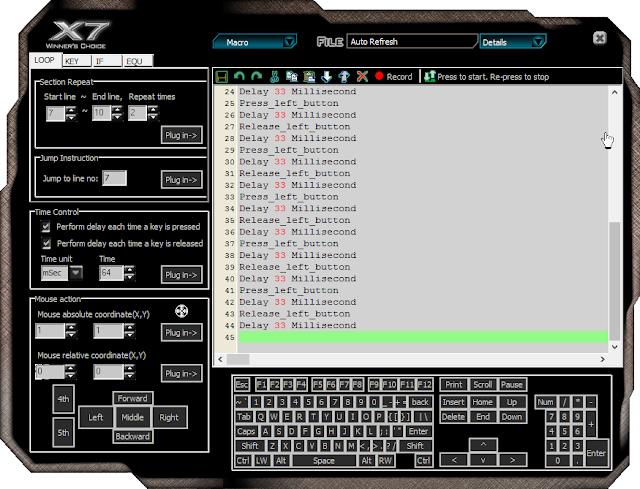 Cara Setting Mouse Macro X7 Untuk Point Blank Garena Indonesia