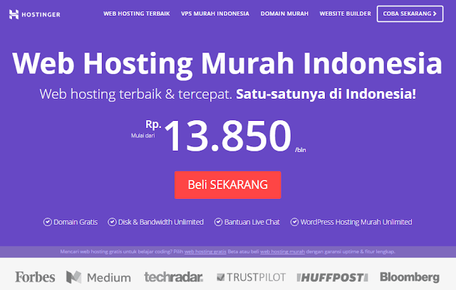 Hostinger.co.id Web Hosting Murah Kualitas Terbaik