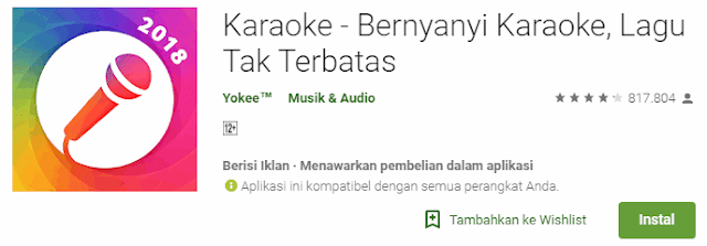 Karaoke - Bernyanyi Karaoke, Lagu Tak Terbatas