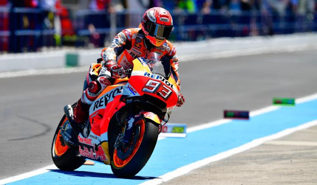 Hasil MotoGP Jerez 2018: Marquez Juara, Lorenzo, Dovi dan Pedrosa Crash
