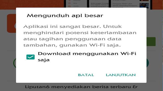 Cara Mengatasi Download Melalui Play Store Yang Selalu Meminta Koneksi Wifi
