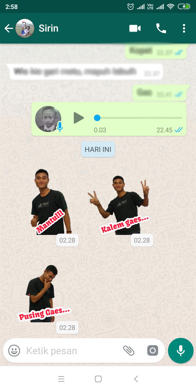 Kata Kata Lucu Stiker Whatsapp Cikimmcom