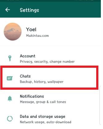cara mengubah wallpaper whatsapp