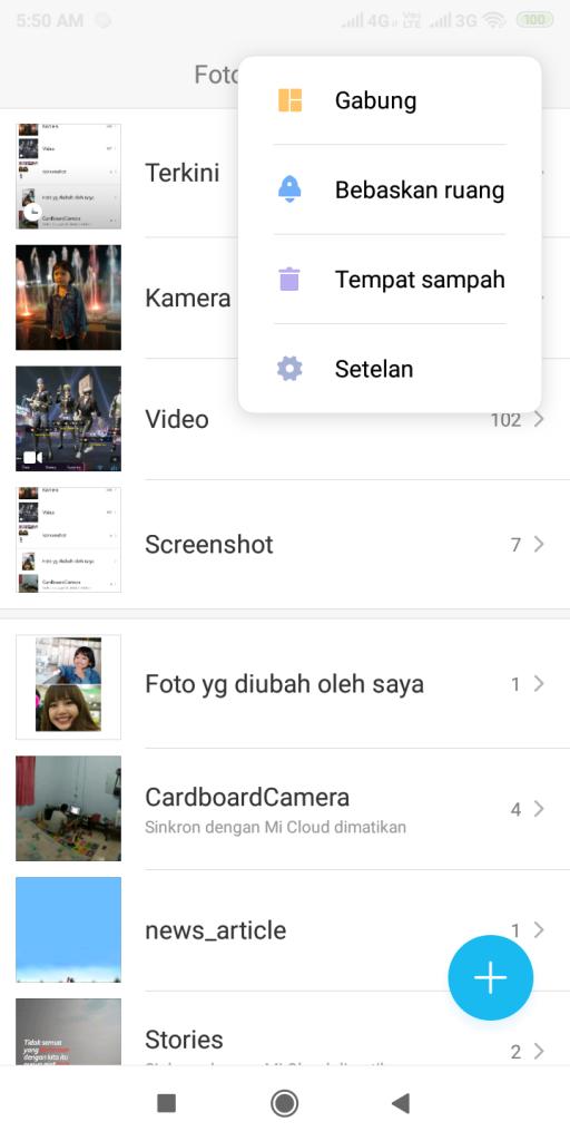 Membuat foto kolase di Xiaomi