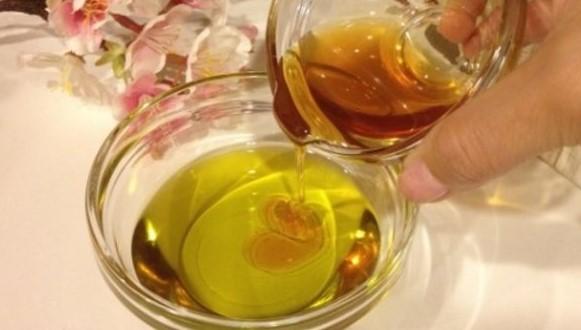 campuran madu dan zaitun