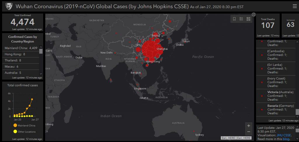 Cara Pantau Penyebaran Virus Corona Secara Real Time